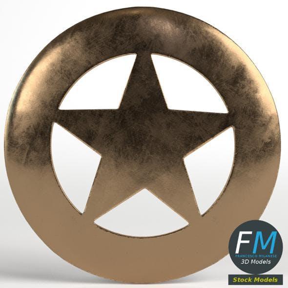 Sheriff round badge