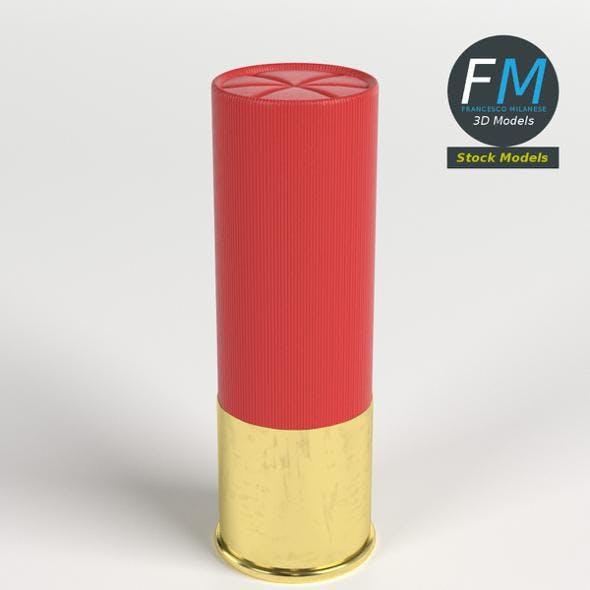 Shotgun shell cartridge - 3DOcean Item for Sale