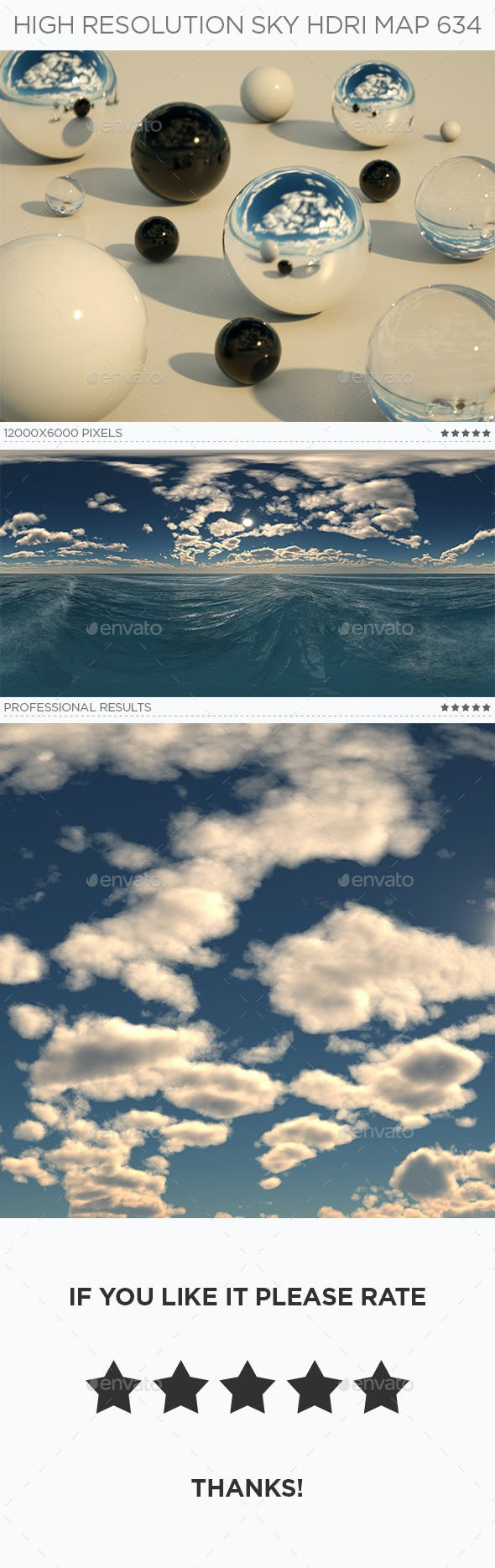 High Resolution Sky HDRi Map 634 - 3DOcean Item for Sale