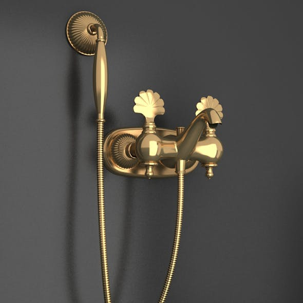 Ottoman Style gold material shower tap_01