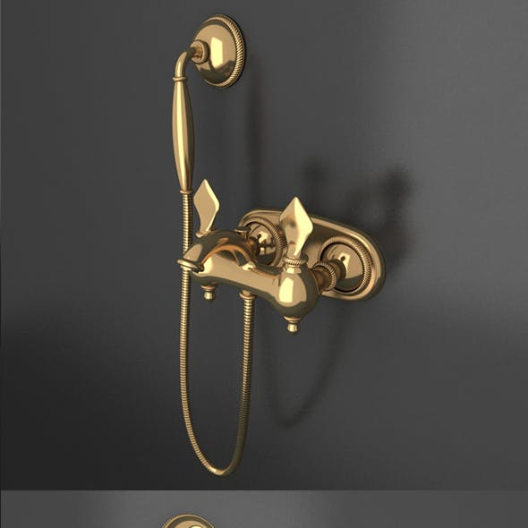 Ottoman Style gold material shower tap_02