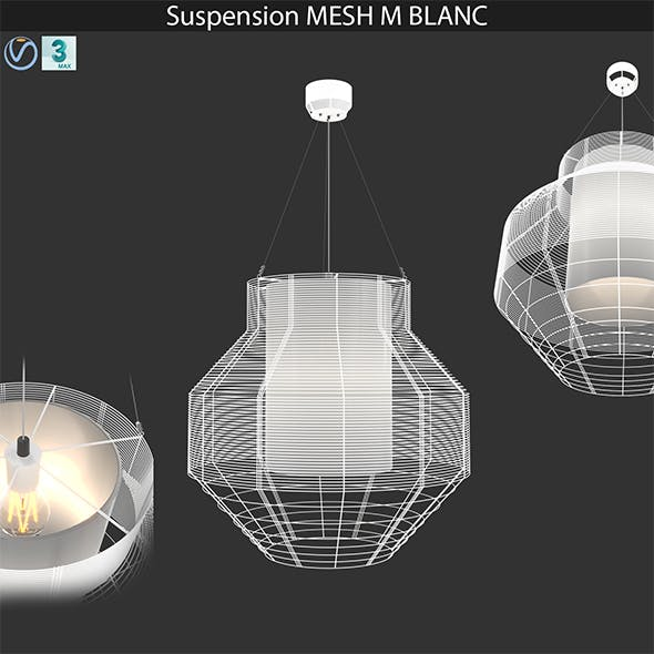 Suspension MESH M BLANC - 3DOcean Item for Sale