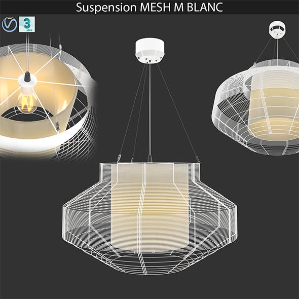 Suspension MESH L BLANC - 3DOcean Item for Sale