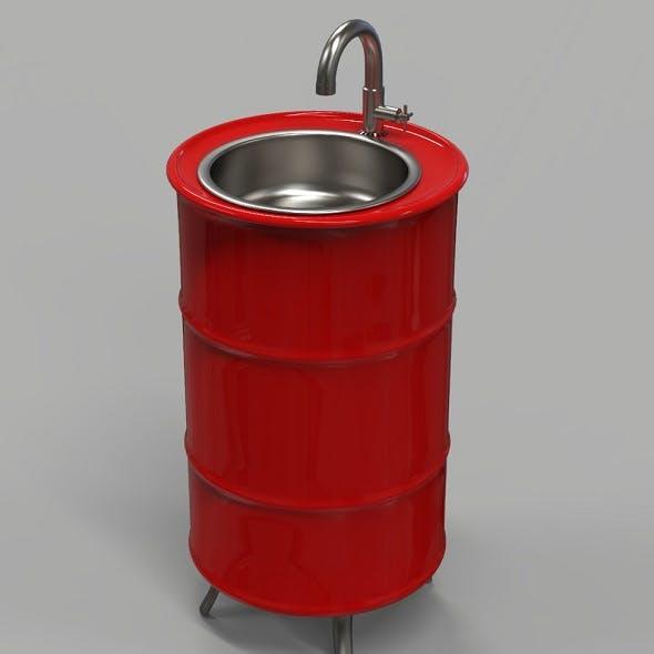 Oil Drum Sink