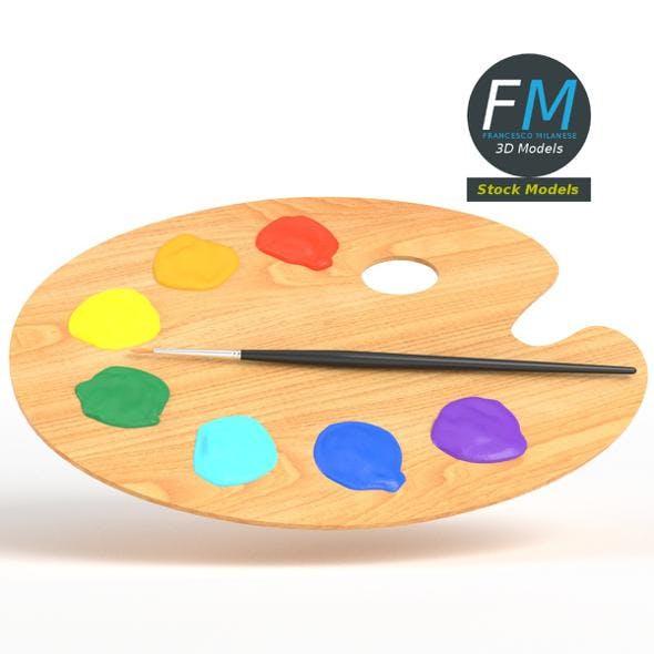 Artist palette - 3DOcean Item for Sale