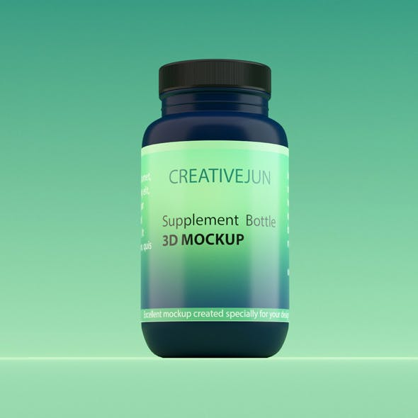 Supplement Bottle - 3DOcean Item for Sale