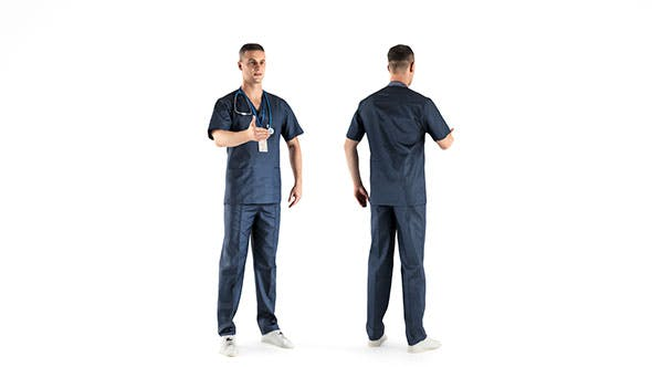 Male surgical doctor 03 - 3DOcean Item for Sale