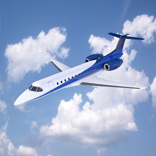 Embraer business jet ERJ -135 - 3DOcean Item for Sale
