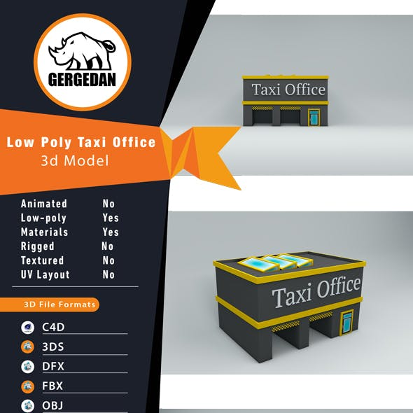 Low Poly Taxi Office