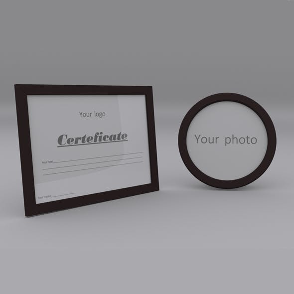 Certificate, Sereteficate, diplom, photo, image, rectangle, framе - 3DOcean Item for Sale