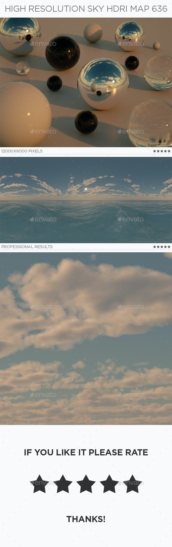 High Resolution Sky HDRi Map 636 - 3DOcean Item for Sale