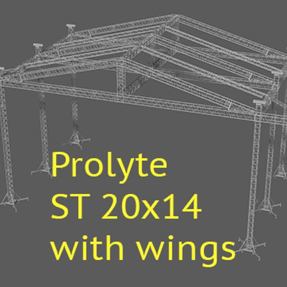 Prolyte ST 20x14 roof with side wings