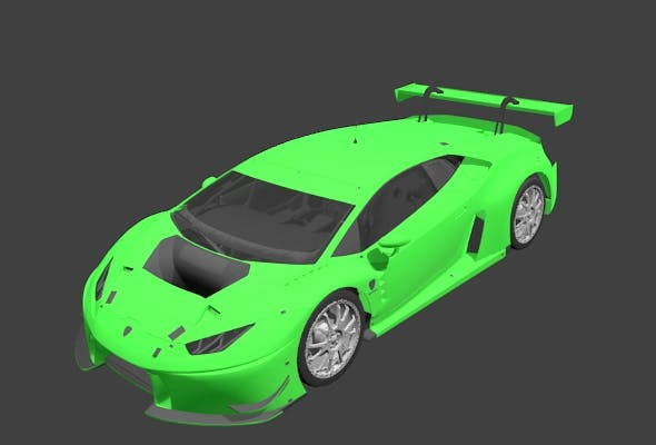 Lamborghini Huracan gt3 - 3DOcean Item for Sale