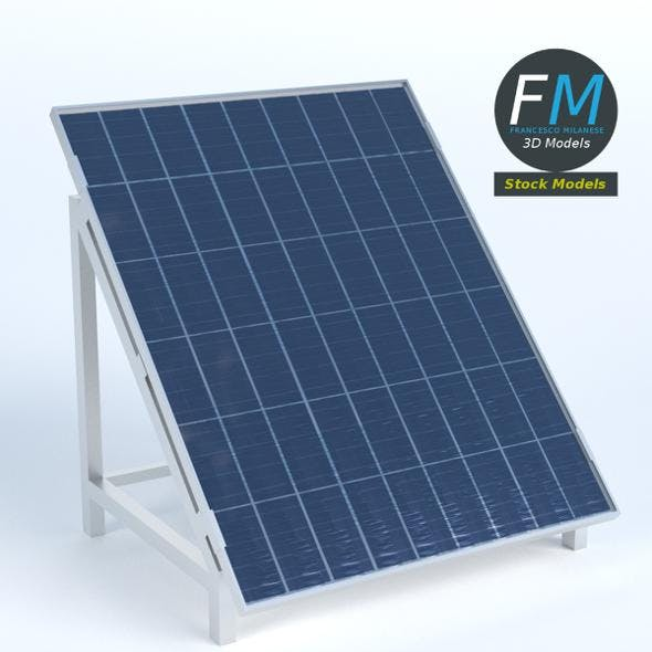 Solar Panel on stand - 3DOcean Item for Sale