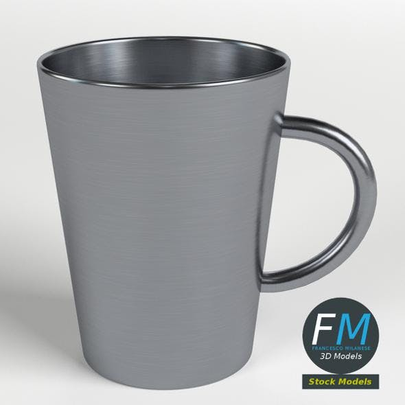 Stainless steel tumbler with handle - 3DOcean Item for Sale
