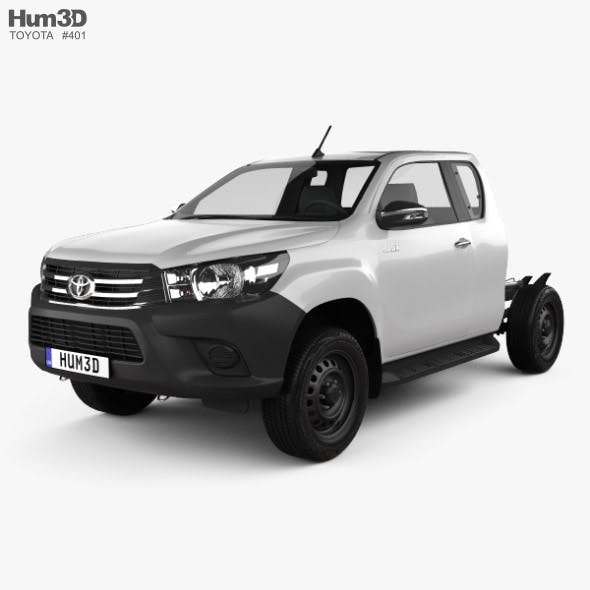 Toyota Hilux Extra Cab Chassis 2015 - 3DOcean Item for Sale
