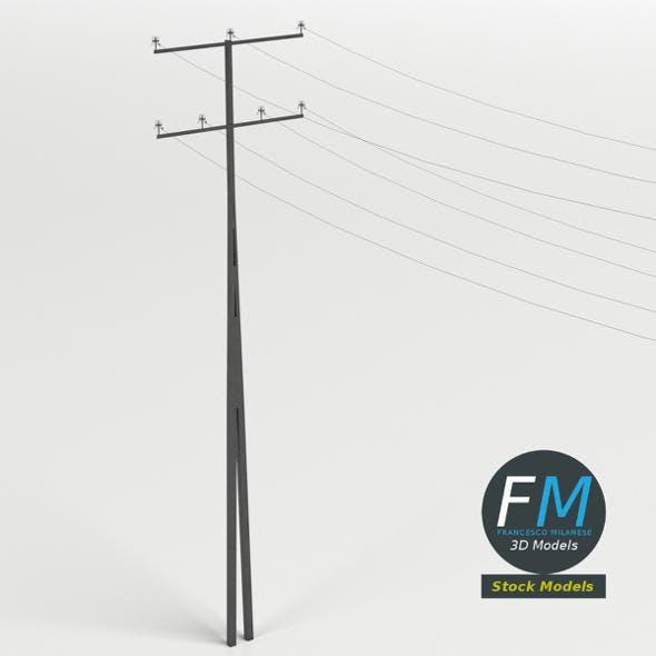 Steel utility pole - 3DOcean Item for Sale