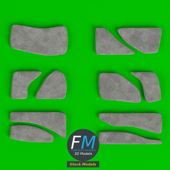 Stone Steppers set - 3DOcean Item for Sale