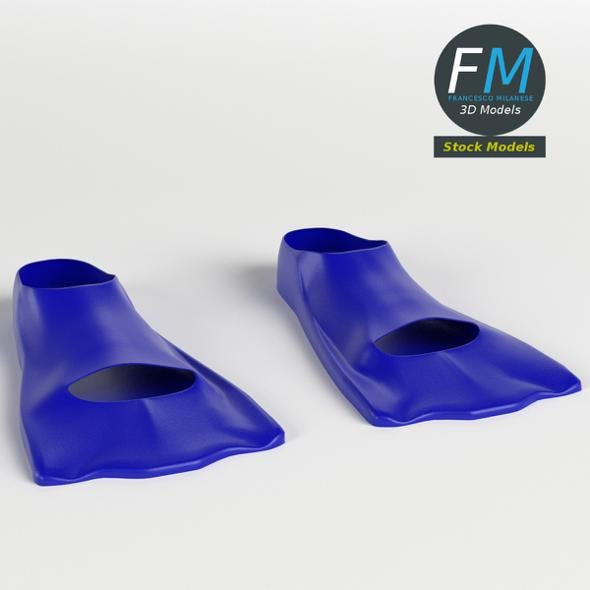 Swimming fins 2 - 3DOcean Item for Sale