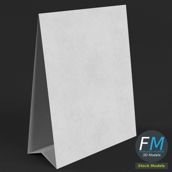 Table tent template 1 - 3DOcean Item for Sale