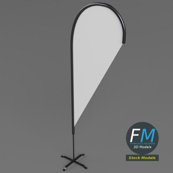 Teardrop flag - 3DOcean Item for Sale