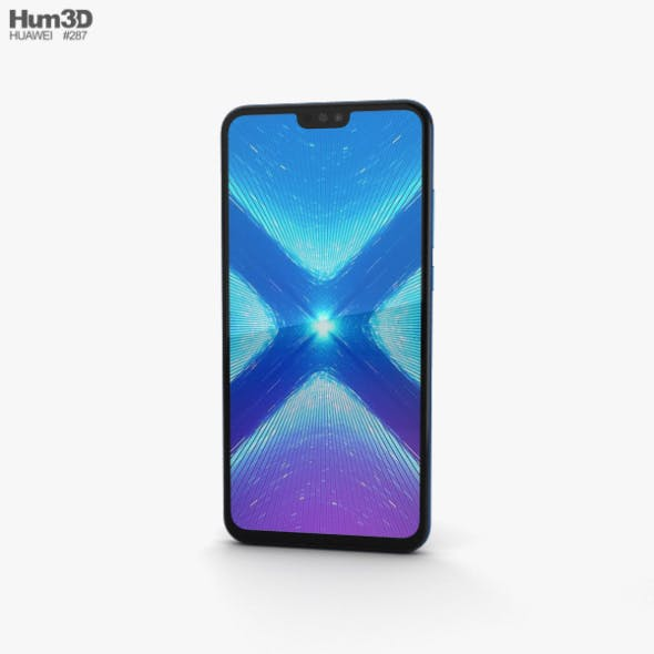 Huawei Honor 8X Blue - 3DOcean Item for Sale