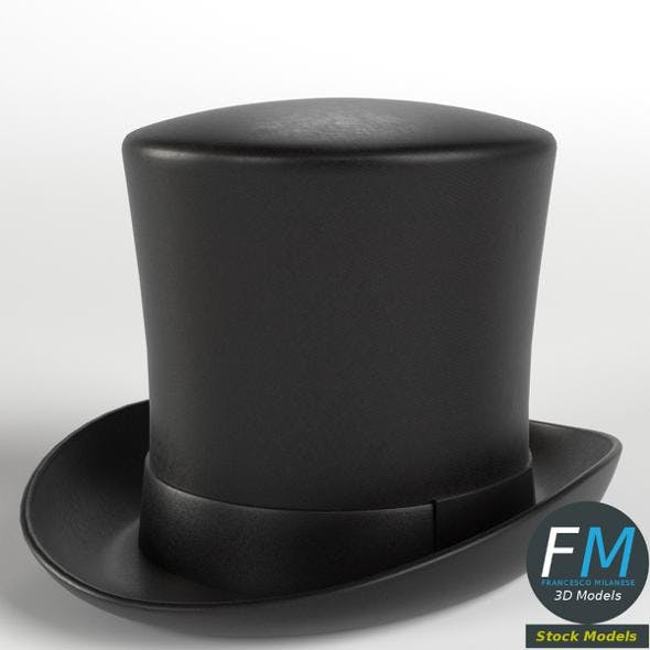 Top hat - 3DOcean Item for Sale