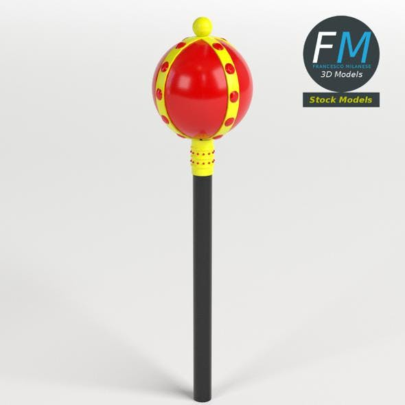 Toy royal scepter - 3DOcean Item for Sale