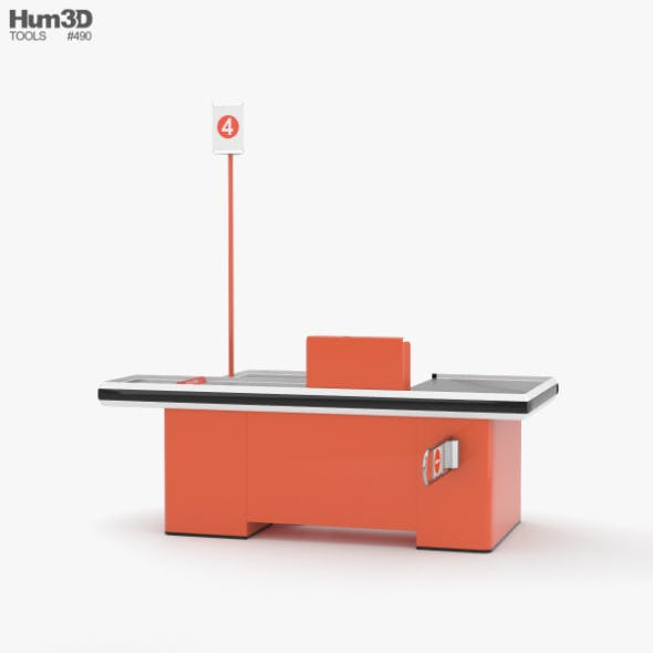 Check-out Counter - 3DOcean Item for Sale