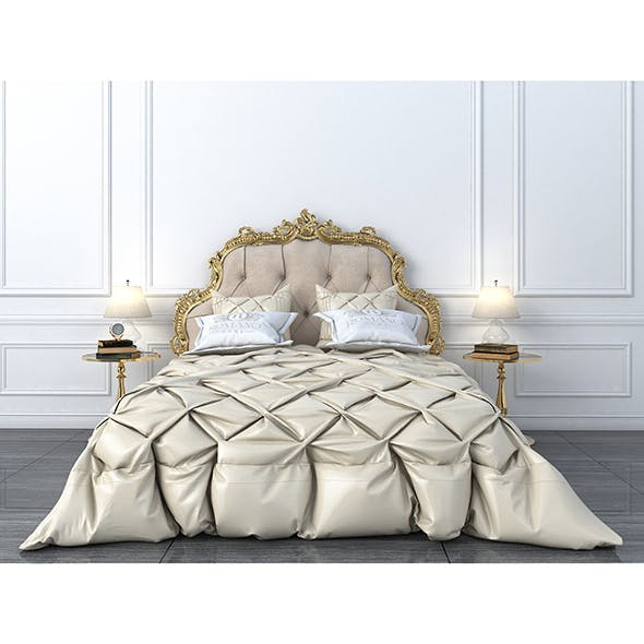 Classical Bed - 3DOcean Item for Sale