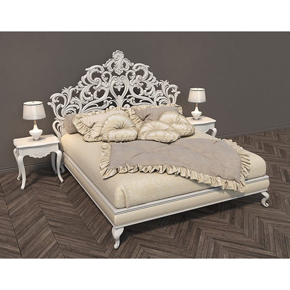 Classic Bed 3 - 3DOcean Item for Sale