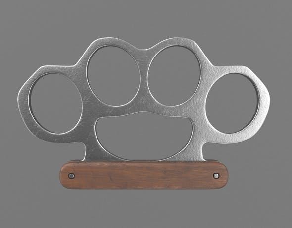 Knuckle with wooden handle - 3DOcean Item for Sale