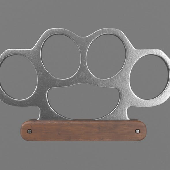 Knuckle with wooden handle
