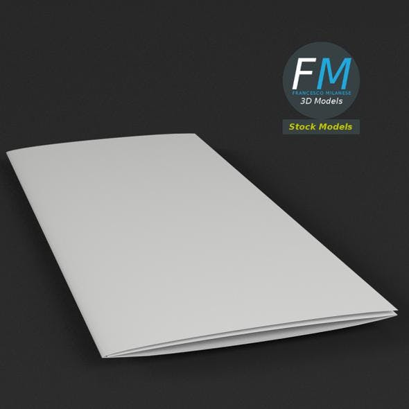 Trifold mockup folded - 3DOcean Item for Sale
