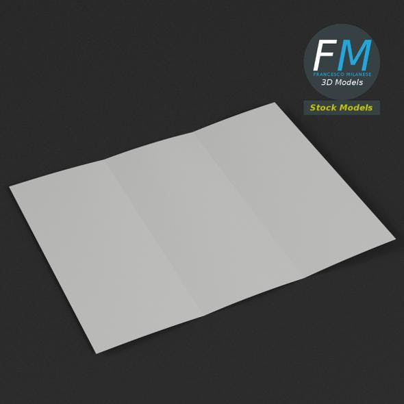 Trifold mockup open - 3DOcean Item for Sale