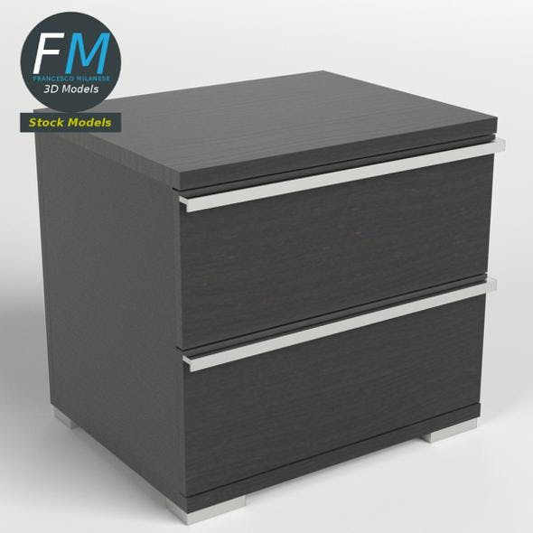 Two drawers bedside table - 3DOcean Item for Sale