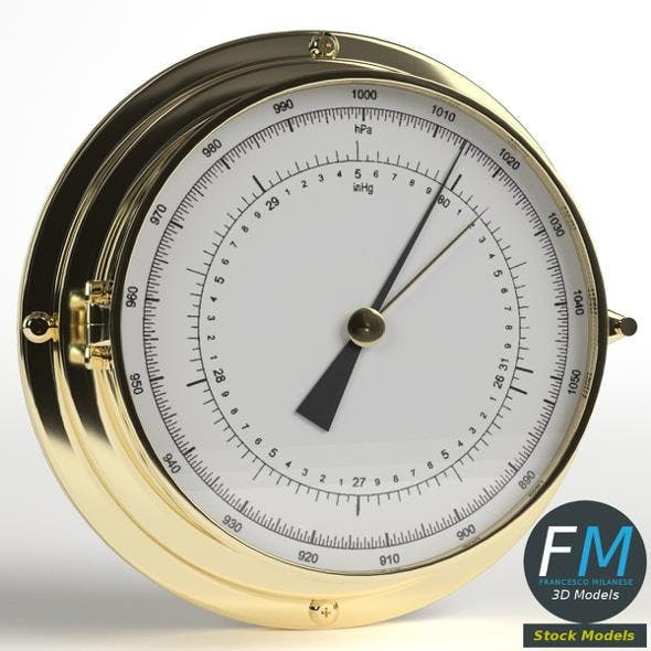Wall Barometer - 3DOcean Item for Sale