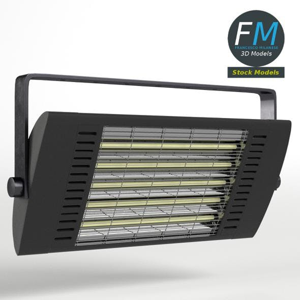 Wall mounted halogen heater - 3DOcean Item for Sale