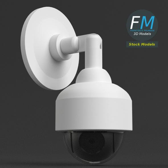 Wall mounted dome surveillance camera - 3DOcean Item for Sale