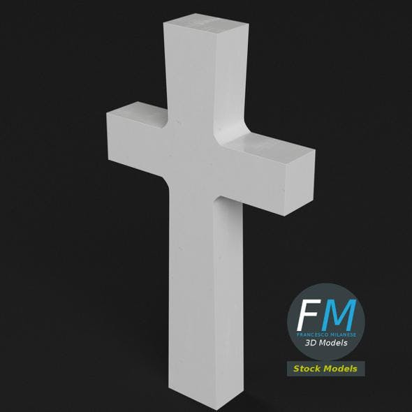 War memorial gravestone - Cross