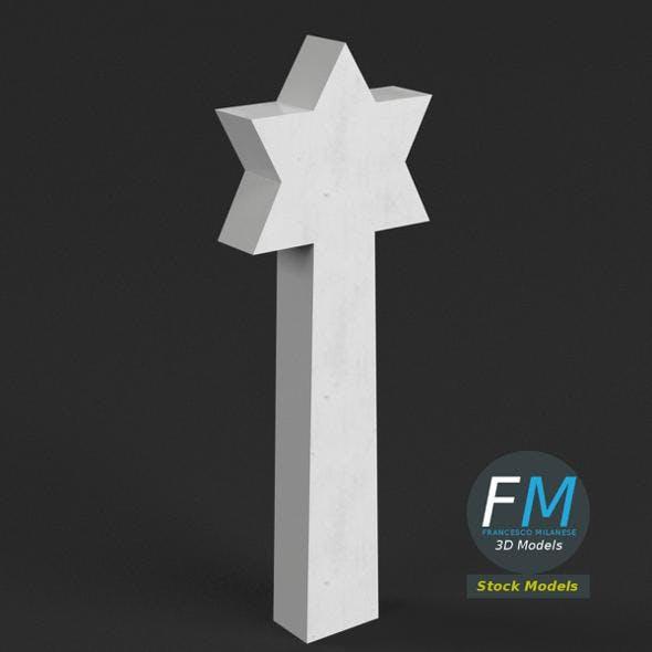 War memorial gravestone - Star of David
