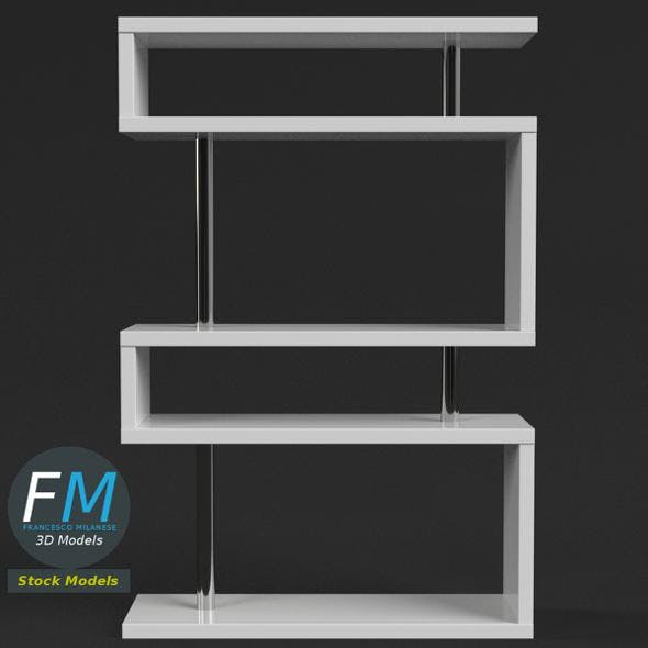 White Bookshelf - 3DOcean Item for Sale