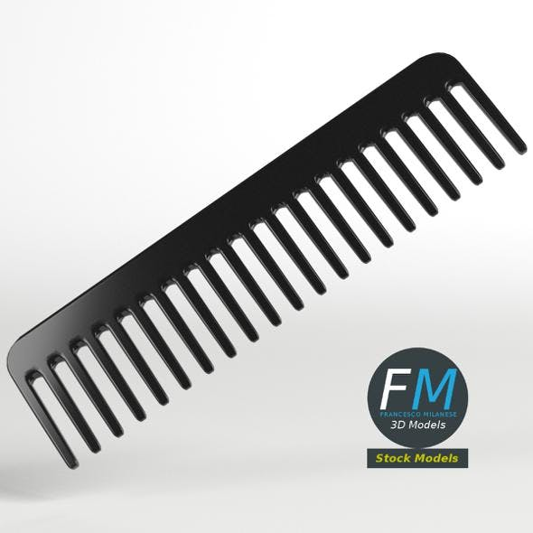 Wide tooth comb - 3DOcean Item for Sale