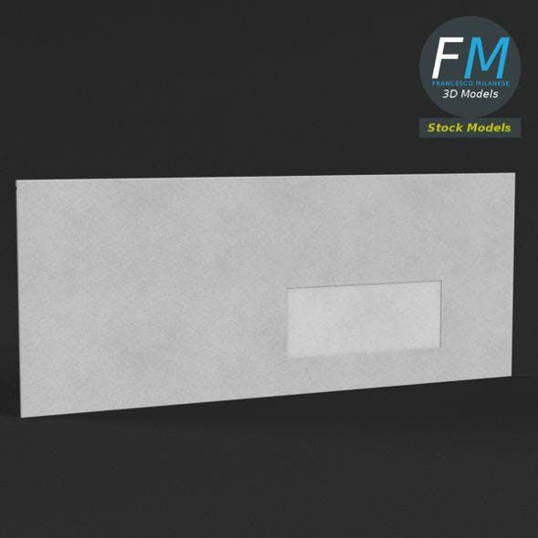 Windowed envelope - 3DOcean Item for Sale