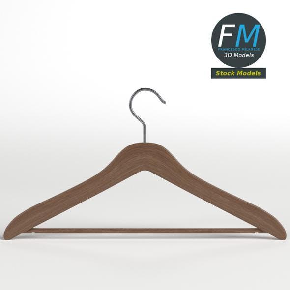 Wooden coat hanger 1 - 3DOcean Item for Sale