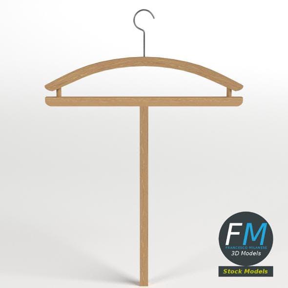 Wooden coat hanger 2 - 3DOcean Item for Sale