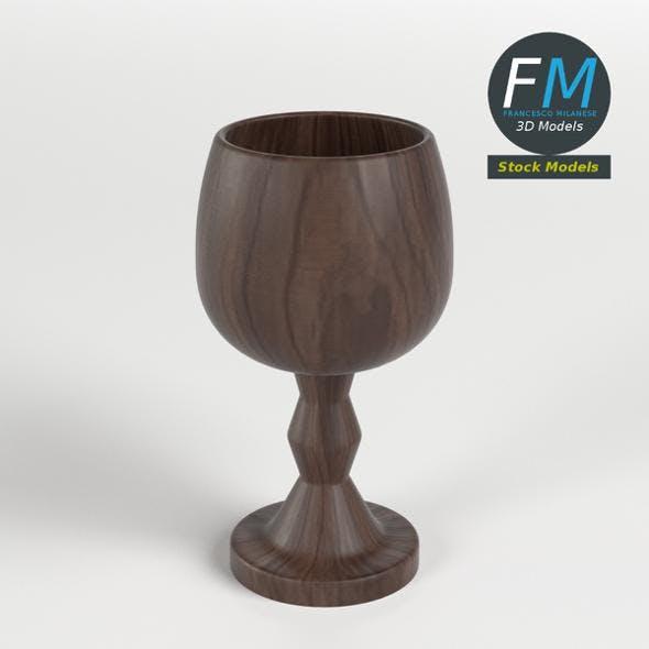 Wooden goblet - 3DOcean Item for Sale