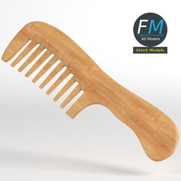 Wooden wide tooth comb - 3DOcean Item for Sale