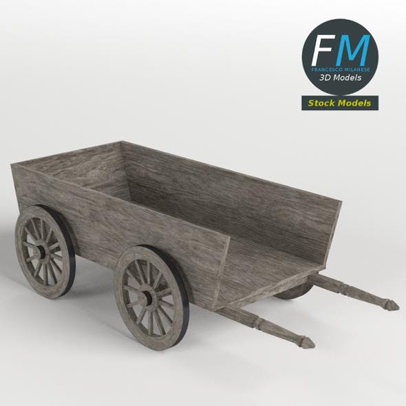 Wooden wagon - 3DOcean Item for Sale