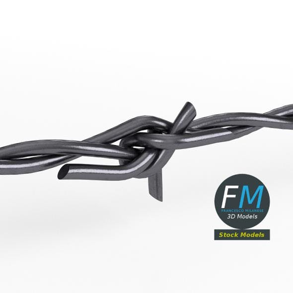 Barbed wire part - 3DOcean Item for Sale